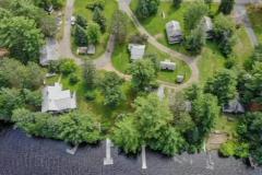 Lazy Bear Log Cabins Aerial View